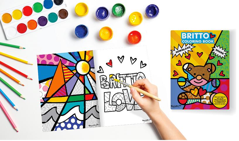 Romero Britto libera gratuitamente seu livro para colorir